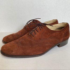 Pierre Balmain Monsieur Suede Oxford Shoes